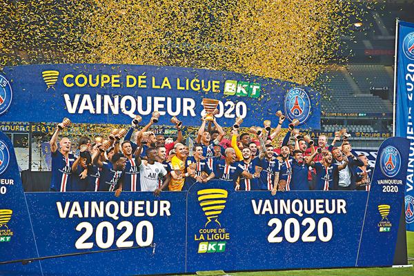 ■ PSG成為法國足壇「3冠王」。 美聯社