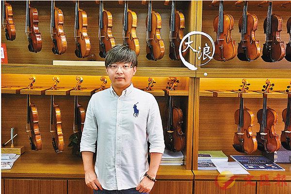 ■張文濠認為,參加樂團會提高學音樂的興趣。 張岳悅 攝