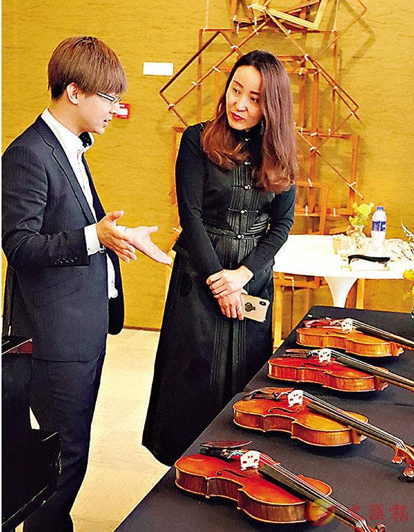■張文濠曾多次舉辦歐洲古董提琴巡迴展覽。