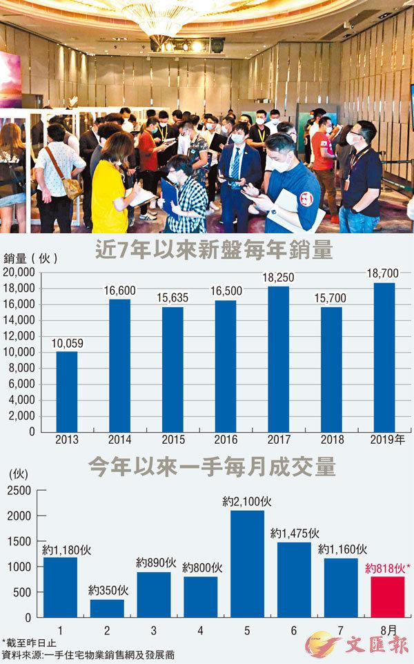 疫襲樓市 首8月新盤銷量急挫37%