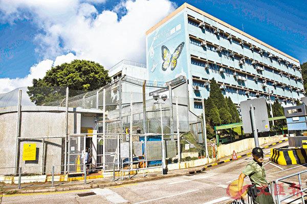 壁屋監獄服刑的22歲泰籍男子病毒檢測證實陽性。圖為壁屋監獄。資料圖片