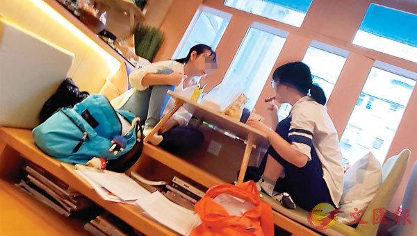 ■工作空間內,有客人在禁堂食時段開餐。
