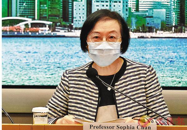 ■陳肇始表示,會優先為長期病患者等接種。 香港文匯報記者  攝