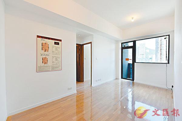 ■ 海珀於今日開價。圖為該盤22樓A室474呎兩房戶客飯廳。