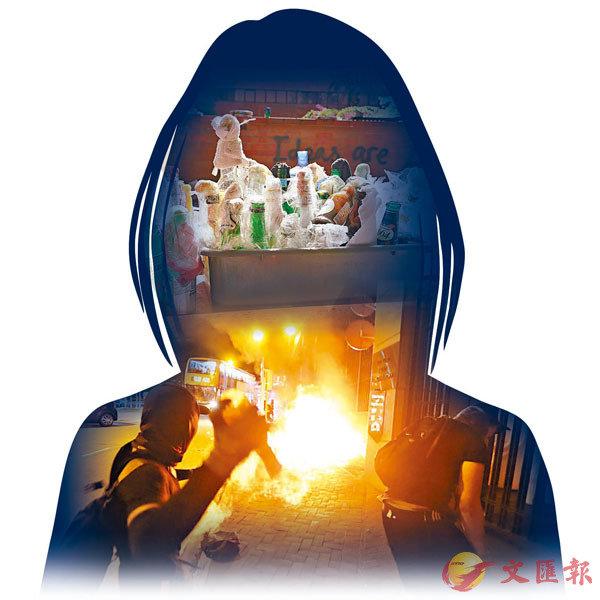■16歲少女藏有汽油彈材料僅獲輕判感化12個月,律政司向高院申請覆核刑罰。 設計圖片