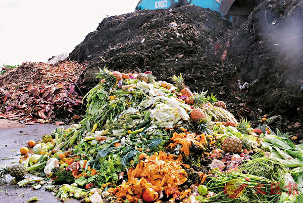 ■廚餘成為都市固體廢物主要來源之一。 資料圖片