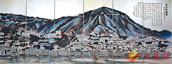 ■葉因泉六連屏作品《東方明珠圖》。