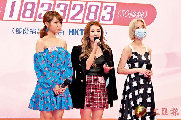 ■林穎彤(左)將在節目獻唱新歌。