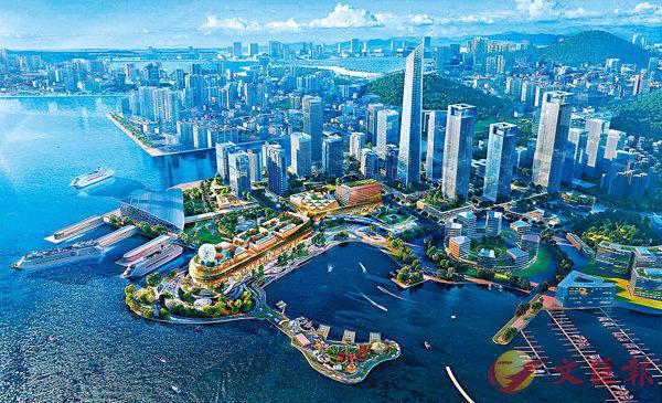 ■ 圖為新世界擬斥資逾 100 億元發展的深圳太子灣模擬效果圖。