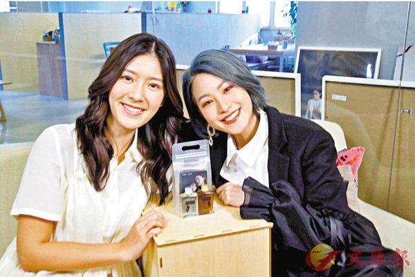 ■吳嘉熙(右)與余香凝自爆飲醉酒的「瘀事」。