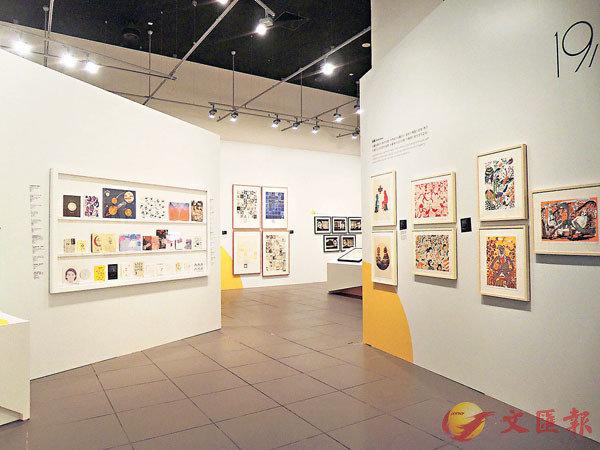 ■展覽展出多幅版畫作品。  朱昕 攝