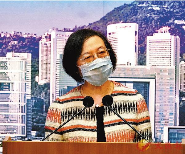 陳肇始表示,憂上呼吸道疫情與新冠肺炎疫情重疊,叫停幼兒園的面授課堂。 香港文匯報記者  攝