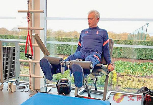 ■摩連奴上載的健身照。  網上圖片