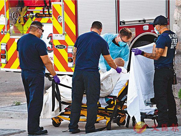■ 美國感染個案持續上升。 法新社
