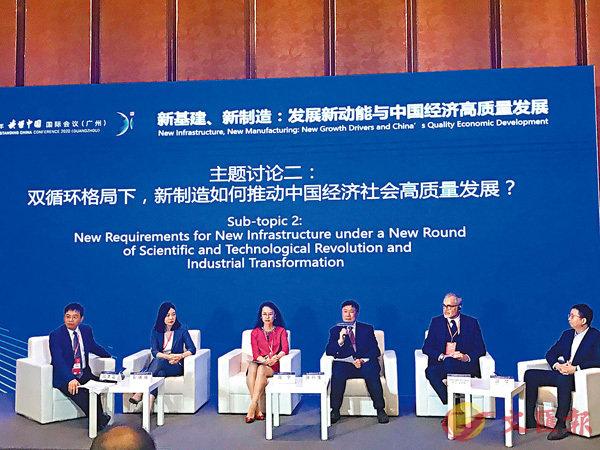 ■多家跨國公司負責人表示,「雙循環」戰略是外資企業的重大機會。香港文匯報記者敖敏輝 攝