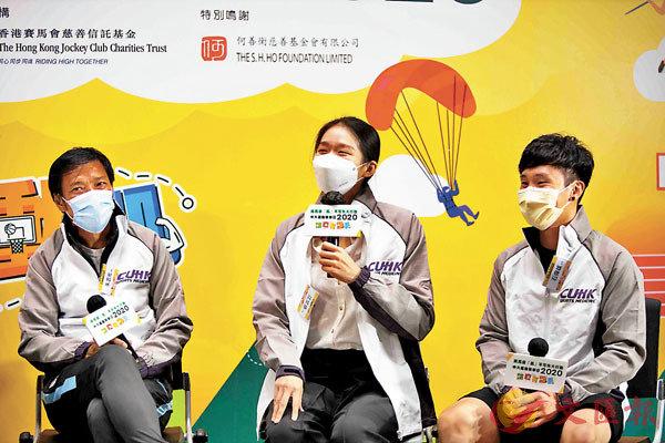 ■朱志光(左起)、江旻憓及石偉雄分享疫情下如何調整訓練及心態。