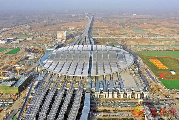 ● 2020年12月27日,京雄城際鐵路實現全線貫通,雄安站同步投入使用。圖為京雄城際鐵路雄安站。 新華社