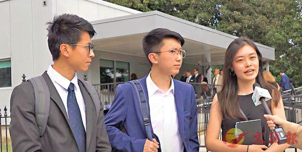 ●黃台仰(左)、張崑陽(中)於2019年9月曾到美國白宮乞求外力干預香港。資料圖片