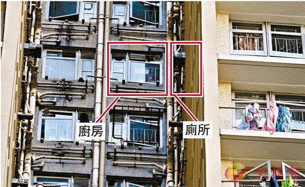 ● 仁石樓廚房與廁所緊挨。 香港文匯報記者  攝