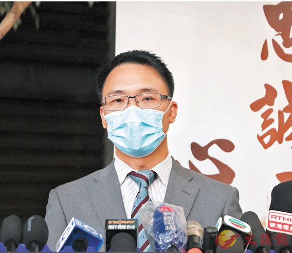 ●警司陳志昌對有中大生以近乎黑社會手法,欺凌及攻擊中大保安,予以譴責,呼籲他們盡快自首。 香港文匯報記者 攝