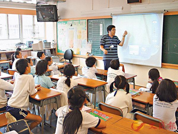 ●教育局更新常識科課程框架,除新增香港國安法內容外,最明顯是加強了國家與香港之間的連繫。圖為本港小學上課情況。 資料圖片