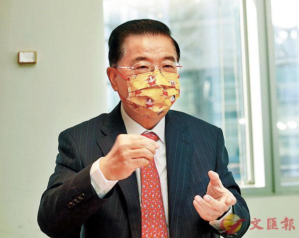 ● 謝湧海為認為,大灣區有利香港重建第二產業。 香港文匯報記者  攝