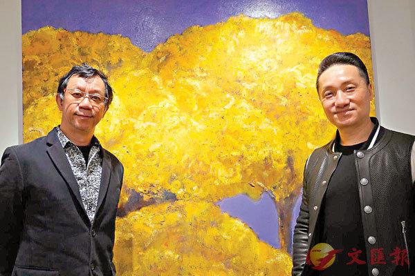 ●李梓良(左)希望與余一樂合作推動藝術教育。