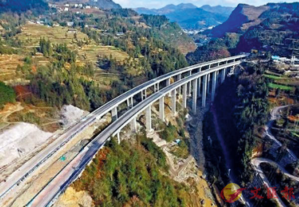 ● 重慶境內的石黔高速公路,連接了黔江至石柱,全長約86公里。 網上圖片