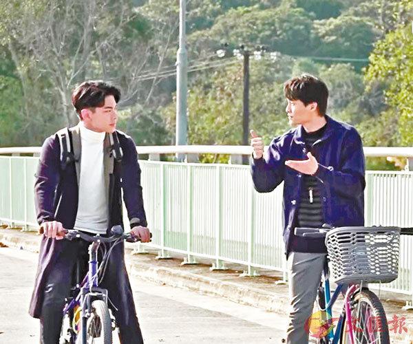 ●胡鴻鈞已可拍攝踩單車的戲份。