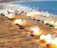 朝鮮舉行史上最大規模火力演習 金正恩指導
